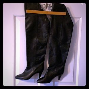 VINTAGE Nine West over-the-knee leather boots